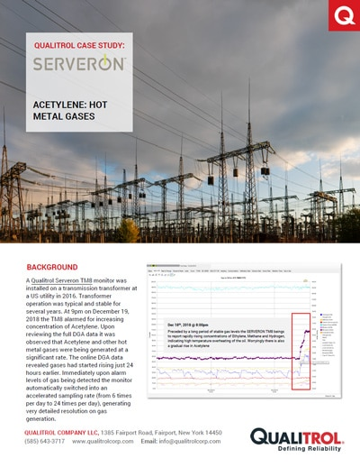 Qualitrol Serveron Case Study Hot Metal Gases
